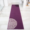 Purple and Black Modern Rug - Milan