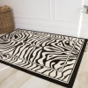 Black White Animal Zebra Print Rug - Milan