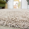 Super Soft Luxury Beige Shaggy Runner Rug - Aspen