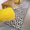 Geometric Black Ombre Living Room Rug - Enzo