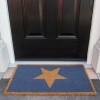 Blue Big Star Coir Outdoor Entrance Doormat - Coir