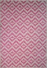 Pink Geometric Outdoor Runner Rug - Habitat