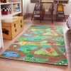 Double Sided Farm Town Kids Rug