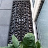 Long Ornate Iron Black Rubber Outdoor Entrance Doormat - Rubber Mat