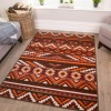 Red and Terracotta Aztec Rug - Milan
