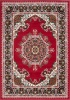 Red Traditional Medallion Living Room Rug - Milan