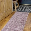 Rich Purple Mottled Shaggy Hall Runner Rug - Murano