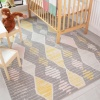 Colourful Diamond Print Soft Kids Bedroom Rugs  - Nino