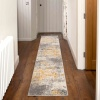 Distressed Ochre Yellow Pastel Soft Living Room Rug - Oscar