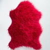 Ruby Red Faux Fur Sheepskin
