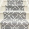 Grey Trellis Stair Carpet Runner - Cut to Measure
