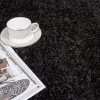 Super Soft Black Shaggy Rug - Vancouver