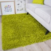 Fern Green Shaggy Rug -Vancouver