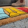 Colourful Wellies Coir Outdoor Entrance Doormat - Coir