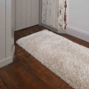 Deluxe Thick Soft Beige Shaggy Hall Runner Rug - Whistler