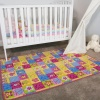 Pink Colourful Butterfly Kids Playroom Mat