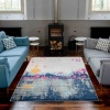 Colourful Abstract Artistic Large Living Room Rugs - Oscar