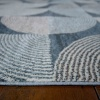Soft Modern Blue Geometric Abstract Hall Runner Rugs - Riviera