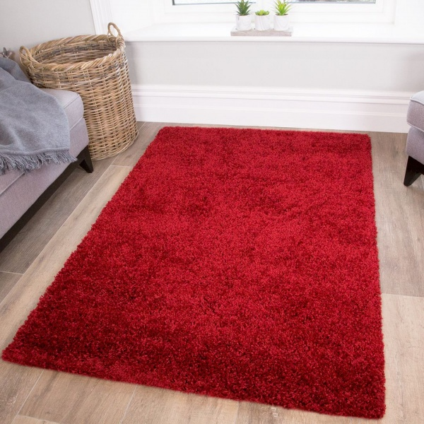 Wine Shaggy Rug- Vancouver